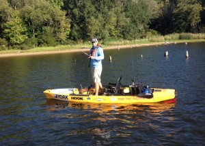 The Hobie Pro Angler 14 Is A Solid & Stable FIshing Platform. This Kayak Allows Anglers To Carry Everything They Could Need For A Great Day Of Fishing